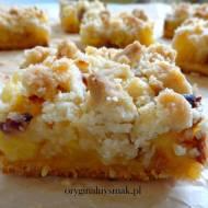 Kruche ciasto ananasowo-kokosowe z kruszonką