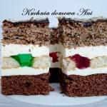 Delicja orzechowo-kakaowa z galaretkami