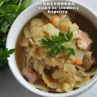 Parzybroda - zupa ze słodkiej kapusty z ziemniakami