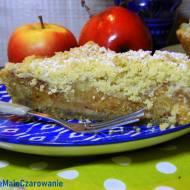Szarlotka z kruszonką - tarta z jabłkami, kruszonką i konfiturą z płatków róży