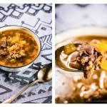 Zupa na jagnięcinie, z wątróbką i dynią