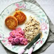 Kotlety drobiowe z mięsem gotowanym z rosołu