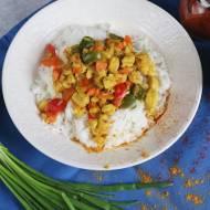 Warzywa z kurczakiem w curry