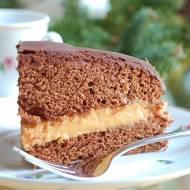 Torcik czekoladowy z kremem kajmakowym