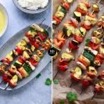 Tajskie szaszłyki z indyka z warzywami, pieczone w piekarniku lub na grillu