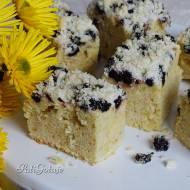 Szybkie ciasto z suszoną porzeczką i aronią