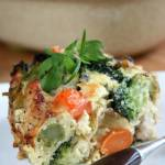 Zapiekanka z indykiem i warzywami