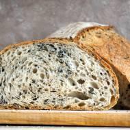 Chleb z sezamem na zaczynie biga (drożdżowym)