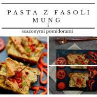 Pasta z fasoli mung, kaszy gryczanej niepalonej i suszonych pomidorów