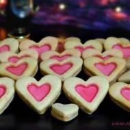 Walentynkowe ciasteczka serduszka.
