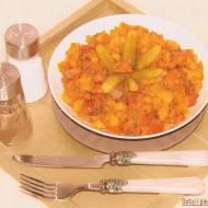 Szybkie danie jednogarnkowe z kiełbasą i ziemniakami
