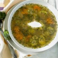 Zupa z brukselki i kapusty