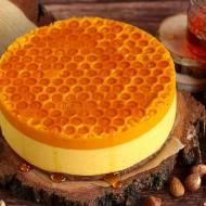 "Sernik ""plaster miodu"" mango -dynia z syropem ryżowym (bez glutenu)"