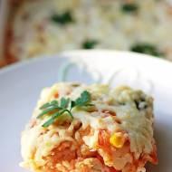 Zapiekanka Ryżowa Z Warzywami Z Patelni I Pomidorami