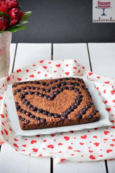 Ciasto owsiane z borówkami (wegańskie, bezglutenowe)