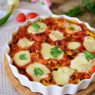 Gnocchi pod warzywami zapiekane z mozzarellą