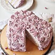 Tort Serce w Różyczki Śmietanowo – Jagodowy