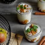 Pudding z tapioki z prażonymi jabłkami
