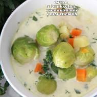 Zupa z brukselką, ziemniakami i marchewką