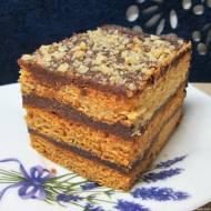 Miodowa Stefanka z kakaową masą grysikową-pyszne i łatwe ciasto
