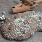 Ciasteczka cynamonowo- kakaowe z czekoladą