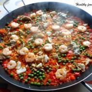 Paella z krewetkami