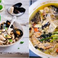 Makaron pełnoziarnisty z mulami / Whole-grain pasta with mussels