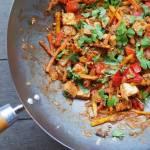 Warzywa z woka z paneer w sosie a la teriyaki
