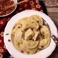 Pierogi z ziemniakami i kiełbasą - kuchnia podkarpacka