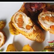 Pierś z indyka nadziewana marchewka i kozim serem