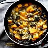Jaglany krupnik z batatami i jarmużem - dietetycznie