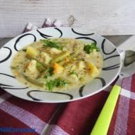Zupa z fasolki szparagowej po szwajcarsku z zacierkami