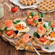 Bezglutenowe i bez laktozy gofry z jajem
