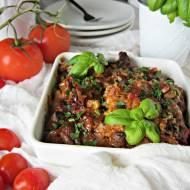 Pieczona karkówka w sosie sojowo pomidorowym