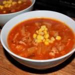Zupa gołąbkowa z kukurydzą