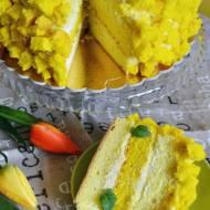 Tort Mimoza ( włoski torta mimosa)