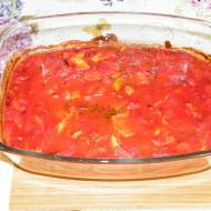 Schabowy z warzywami pod pomidorową pierzynką