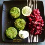 Kotleciki z brokuła i zielonego groszku