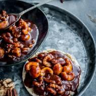 Orzechowo-karmelowe ciasteczka na waflach ryżowych