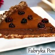 Owsiana tarta z budyniem czekoladowym