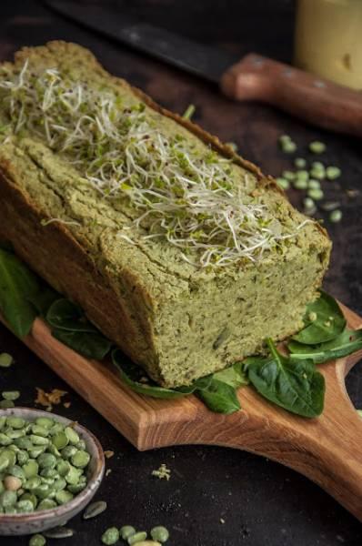 Pasztet z zielonego grochu łuskanego  z pestkami dyni
