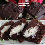 Brownie z kokosem