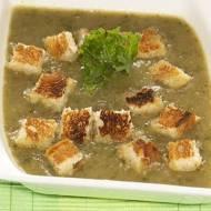 Zupa krem z zielonej soczewicy i jarmużu