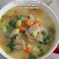 Zupa pieczarkowa z marchewką i ziemniakami