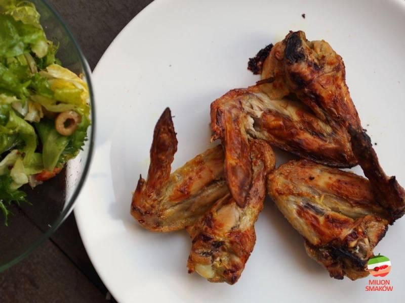Skrzydełka z kurczaka w marynacie curry
