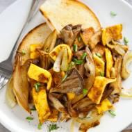 Boczniaki smażone z omletem. Pyszne śniadanie albo szybki obiad [PRZEPIS]