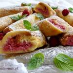 Pain perdu roulé – tosty francuskie z ricottą i malinami