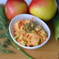 Surówka z pora i marchewki