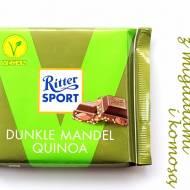 Wegańska, ciemna czekolada z komosą ryżową i migdałami – Ritter Sport