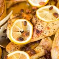 Pieczone pałki z kurczaka z cytryną i ziemniakami